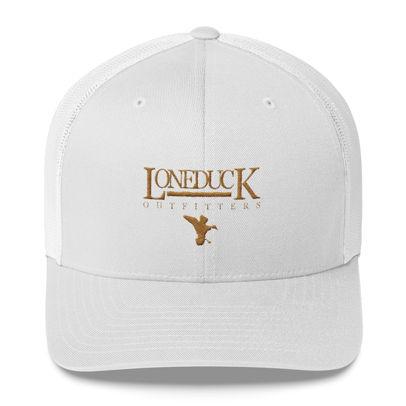 white trucker hat