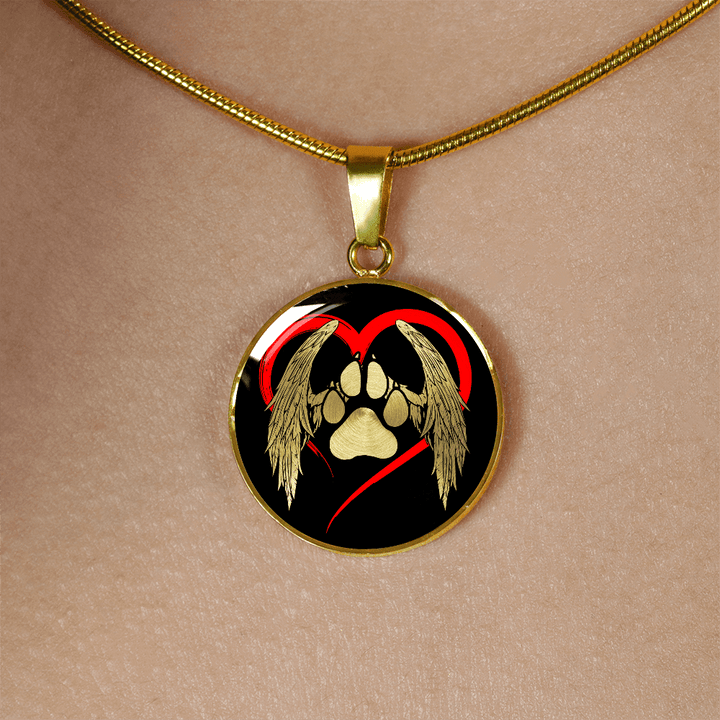 Personalized engraved heart dog pendant ezmango personalized engraved heart dog pendant aloadofball Image collections