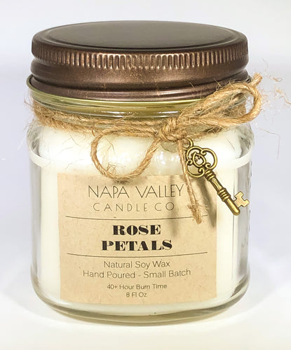 Rose Petals 8oz. Candle