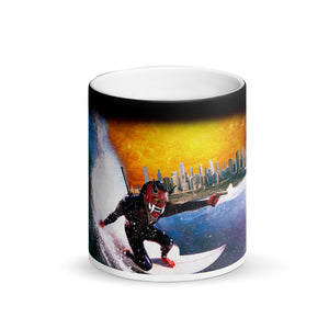 "Color Changing ""Surfboard Assassins""  Black Magic Mug"