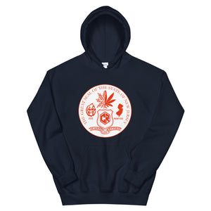 "198# Official ""Seal of Cocareef "" Hoodie"