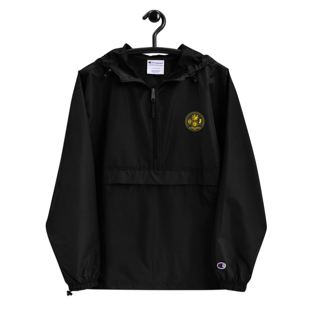 357# Embroidered Champion Packable Jacket