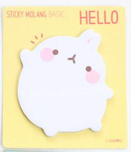 Cute Molang Rabbit Self-Adhesive Memo Pad