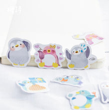Lovely Penguin Decorative Stickers Adhesive Stickers DIY Decoration Diary Stickers Box Package