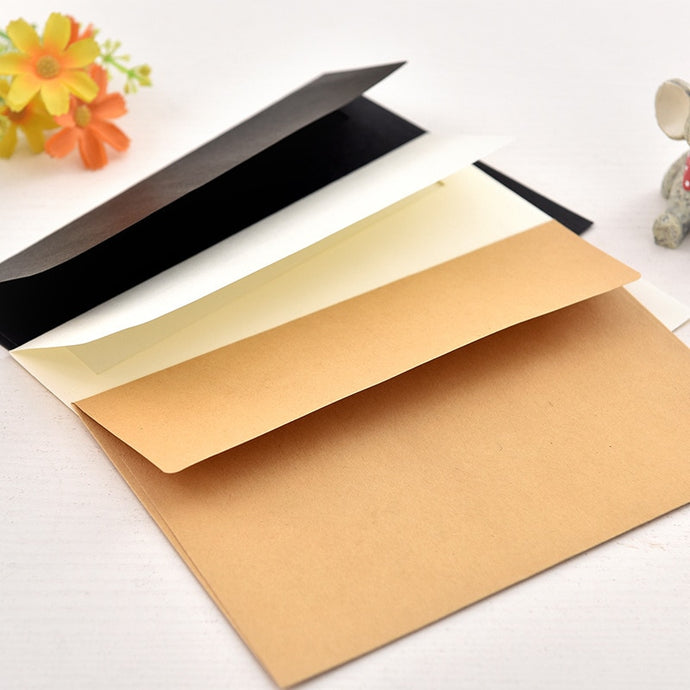 10pcs/pack 17.5x12.5cm kraft, white, or black paper Envelope