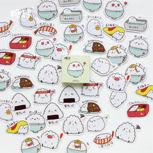 Bowl of Rice Sushi Label Stickers