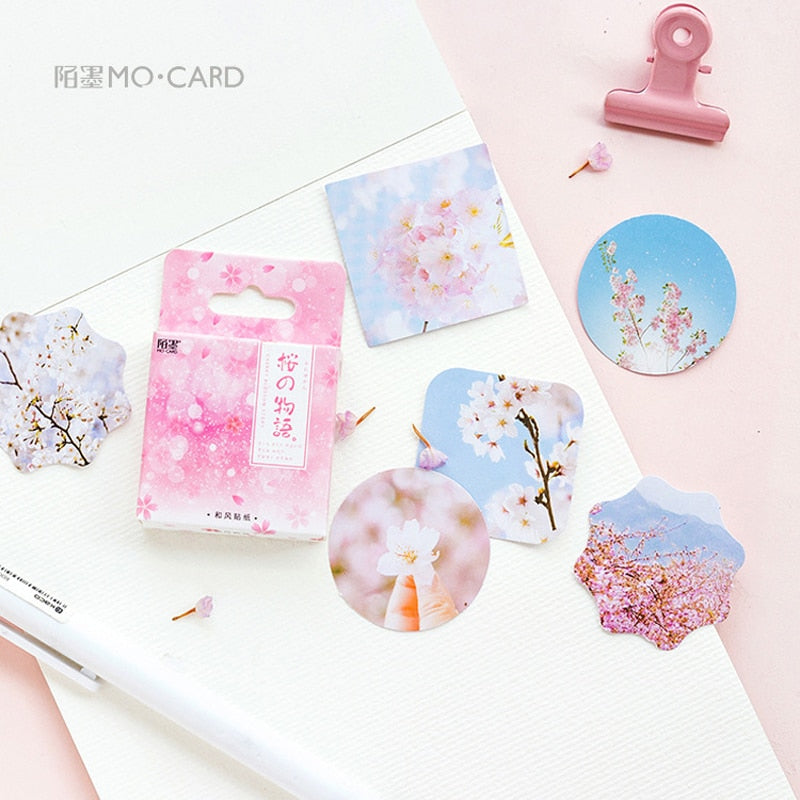 45pcs /Pack Sakura Mini Stickers