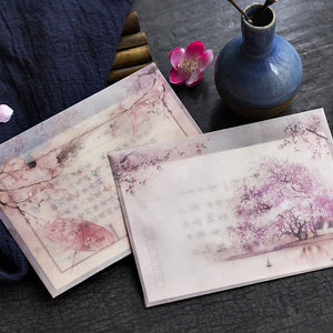3 pcs/pack Romantic Sakura Translucent Envelope Message