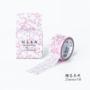 Sakura washi tape available in 15 colors & 2 Sizes