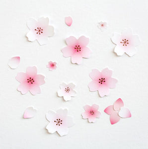 4 pcs/pack Cherry Blossoms Sakura Decorative Stickers