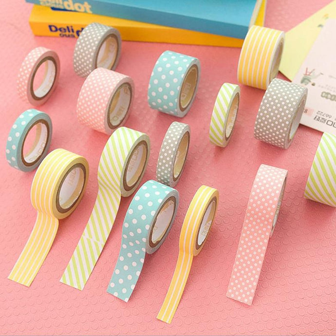 5pcs 5m Kawaii Washi Tape