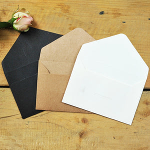 50 pcs/lot Black, White, Craft Paper Envelopes