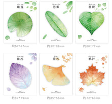 Cute Kawaii Natural Plant Leaf Sticky Note Memo Pad