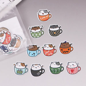 40pcs Creative Little Dragon Green Sticker