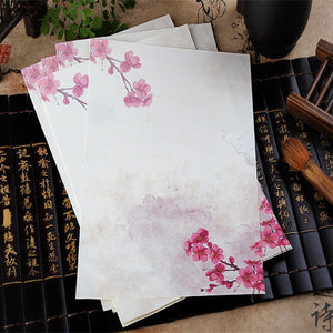 8pcs/lot Asian Flower Letter Writing Paper - 12 Designs to choose from