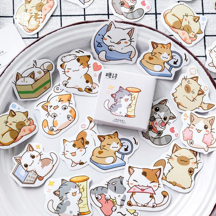 45pcs/lot Cat  Stickers