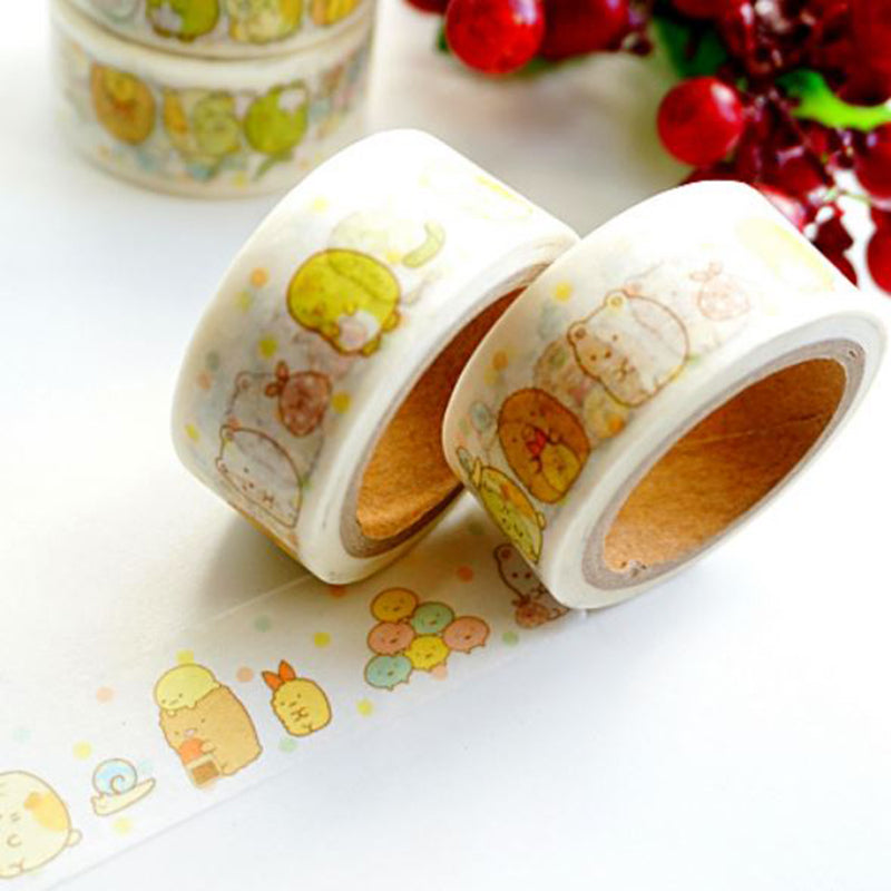 Wide Sumikko Gurashi Paper Washi Tape