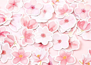 Sakura stationery stickers (1pack=45pieces)