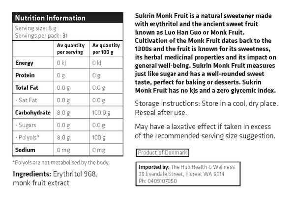 Sukrin Monkfruit (454g)