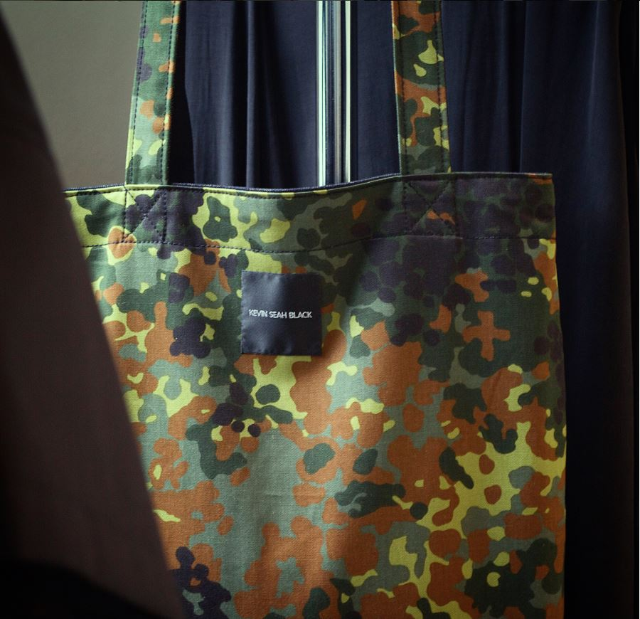 Camo / Stealth Black Reversible Tote