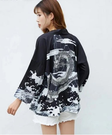 Cardigan Japonais Dragon