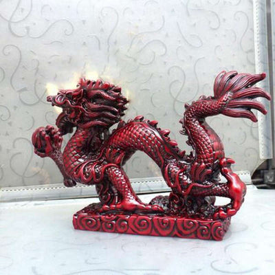 Statue Dragon Rouge | MJ FRANKO