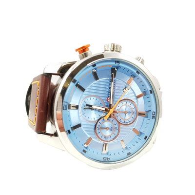 Montre Homme Cuir Marron | MJ FRANKO