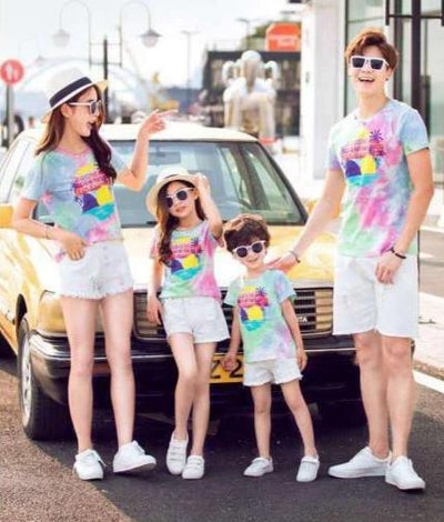 T Shirt Assorti Famille Multicolore | MJ FRANKO