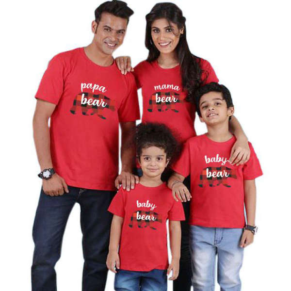 T Shirt Famille Assorti Ours