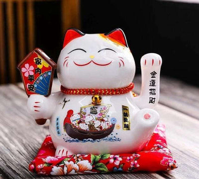 Chat Maneki Neko Bras Qui Bouge | MJ FRANKO