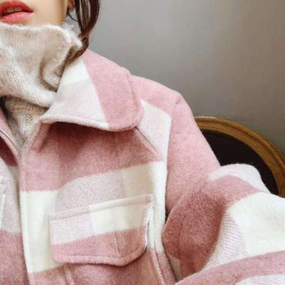 Manteau Rose Laine | MJ FRANKO