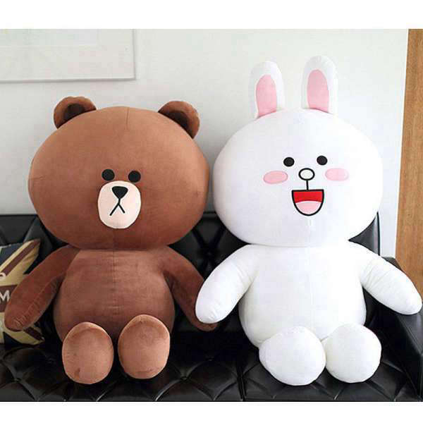 Peluche Ours et Lapin