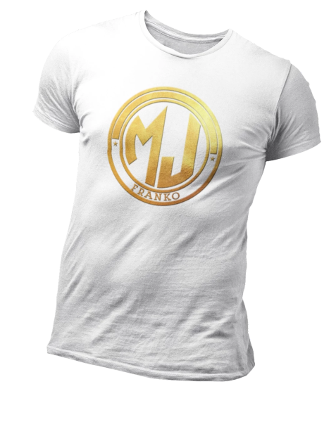 T Shirt Blanc MJ FRANKO Logo Or