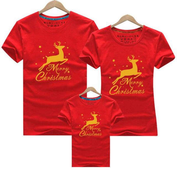 T Shirt Famille Assorti Noel Rouge