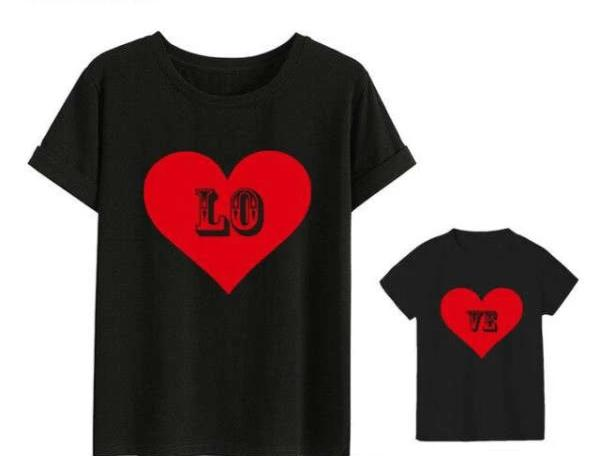 Tee Shirt Assorti Mère Fille Love | MJ FRANKO