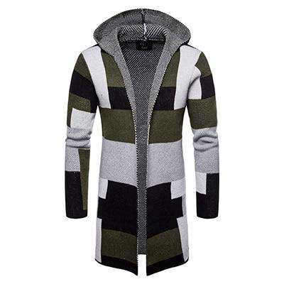 Cardigan Long Homme Capuche