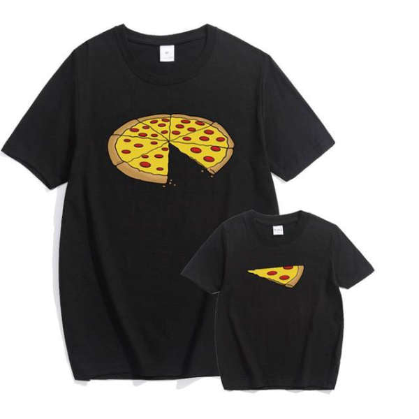 T Shirt Famille Assorti Pizza