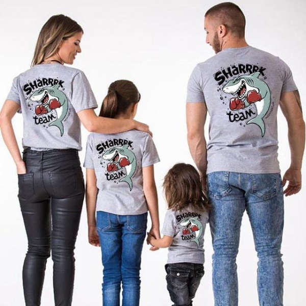 T Shirt Famille Assorti Requin