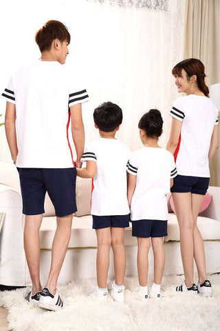 Vêtement Assorti Famille Short T Shirt Rouge
