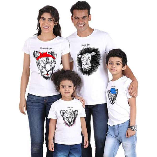 T Shirt Famille Assorti Lion