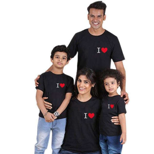T Shirt Famille Assorti I Love | MJ FRANKO
