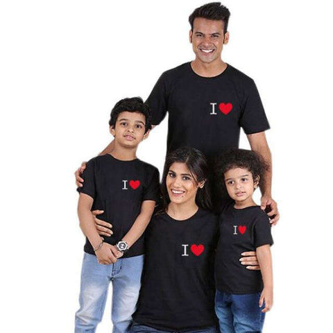 T Shirt Famille Assorti I Love