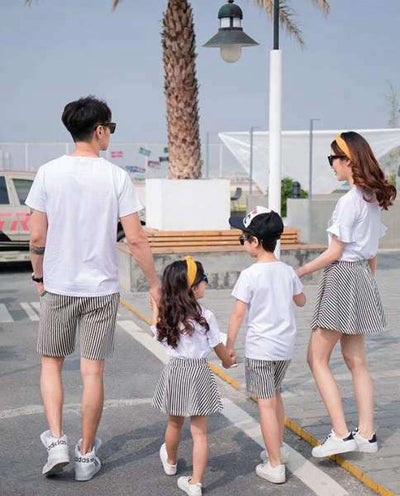 Ensemble T Shirt et Short Assortis Famille | MJ FRANKO