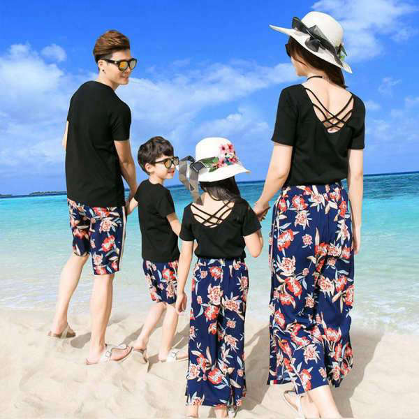Vêtement Famille Assorti T Shirt Short