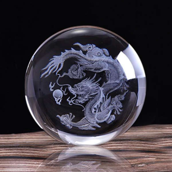 Boule Decorative en Verre Dragon