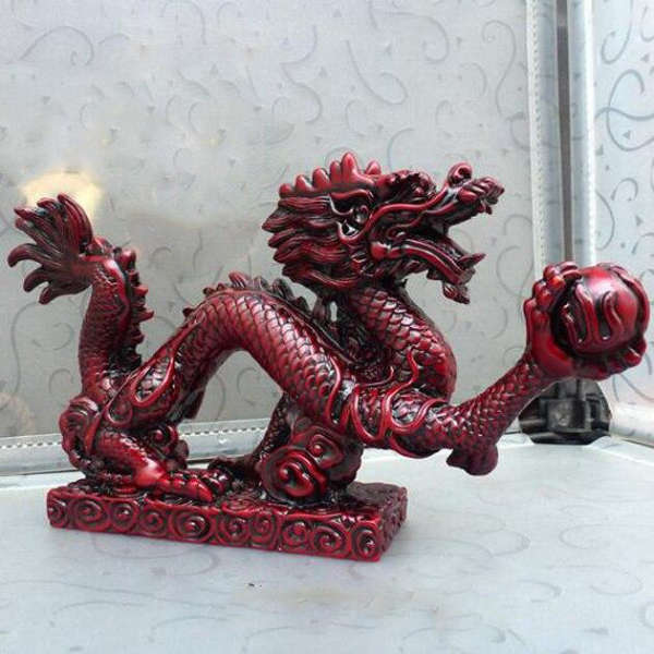 Statue Dragon Rouge