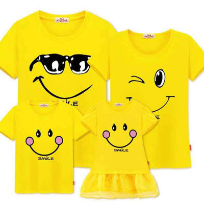 T Shirt Assorti Famille Smile Emoticônes | MJ FRANKO
