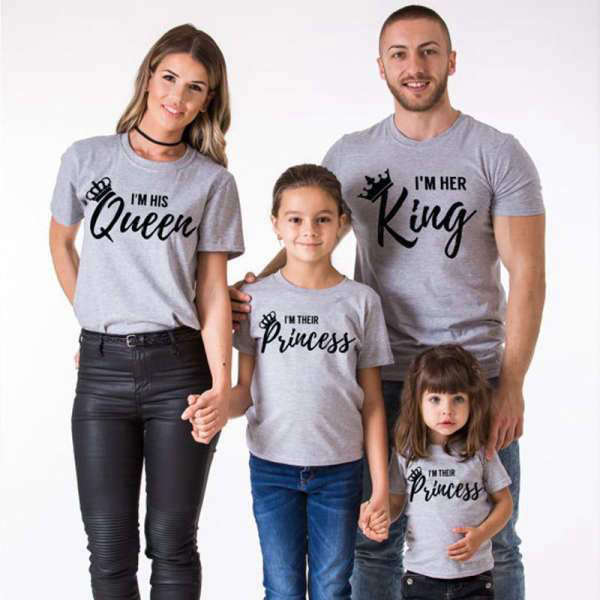 T Shirt Assorti Famille King Queen