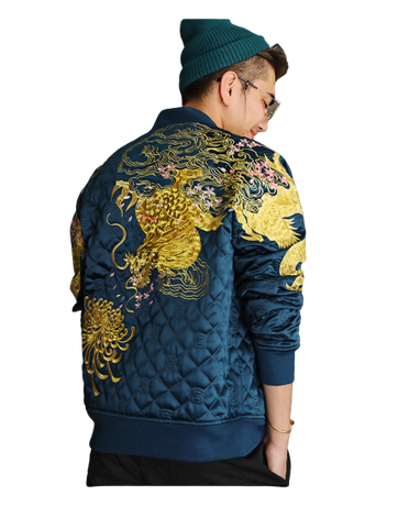 Veste Dragon Brodé Or | MJ FRANKO