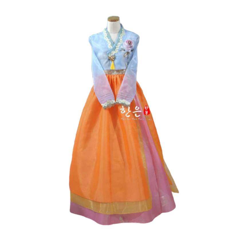 Hanbok Orange Bleu